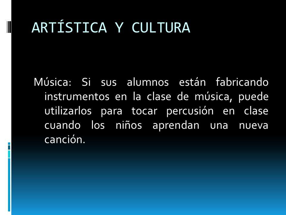 ARTÍSTICA Y CULTURA