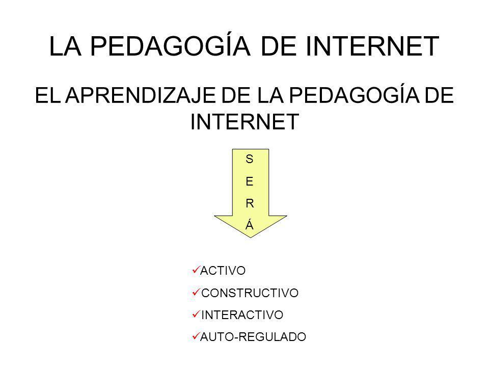 LA PEDAGOGÍA DE INTERNET