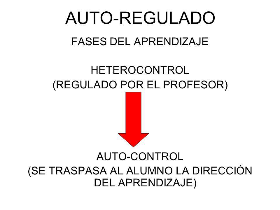 AUTO-REGULADO FASES DEL APRENDIZAJE HETEROCONTROL