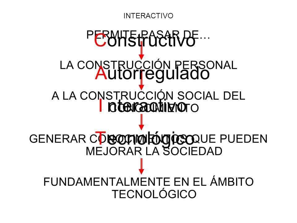 C A I T onstructivo utorregulado nteractivo ecnológico