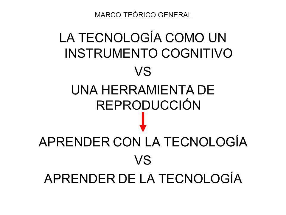 LA TECNOLOGÍA COMO UN INSTRUMENTO COGNITIVO VS
