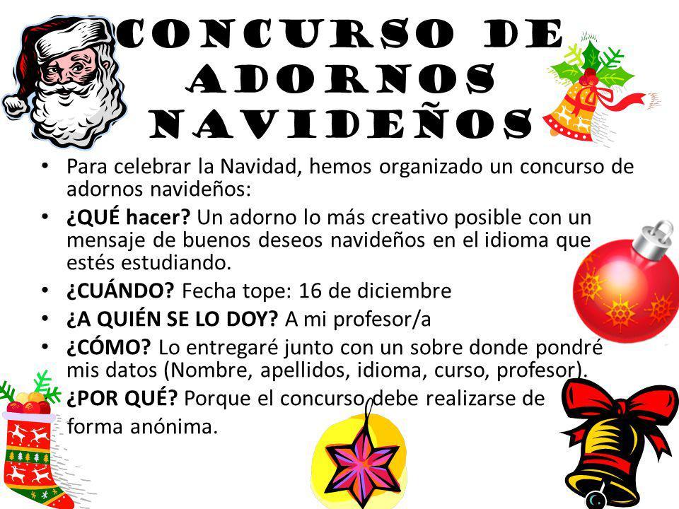 CONCURSO DE ADORNOS NAVIDEÑOS