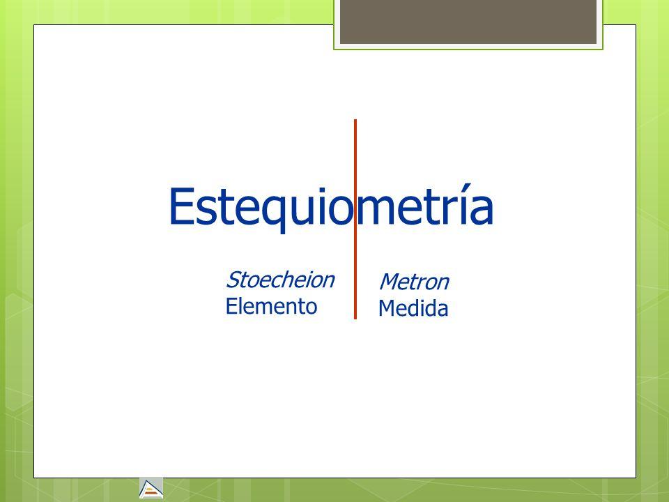 Estequiometría Stoecheion Elemento Metron Medida