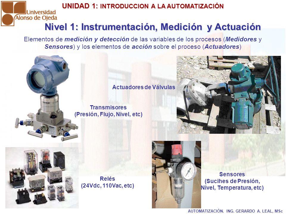 Nivel 1: Instrumentación, Medición y Actuación