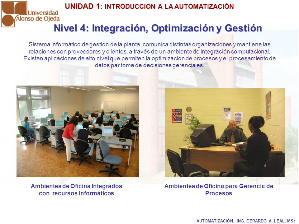 Nivel 4: Integración, Optimización y Gestión