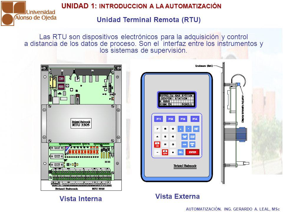 Las RTU son dispositivos electrónicos para la adquisición y control
