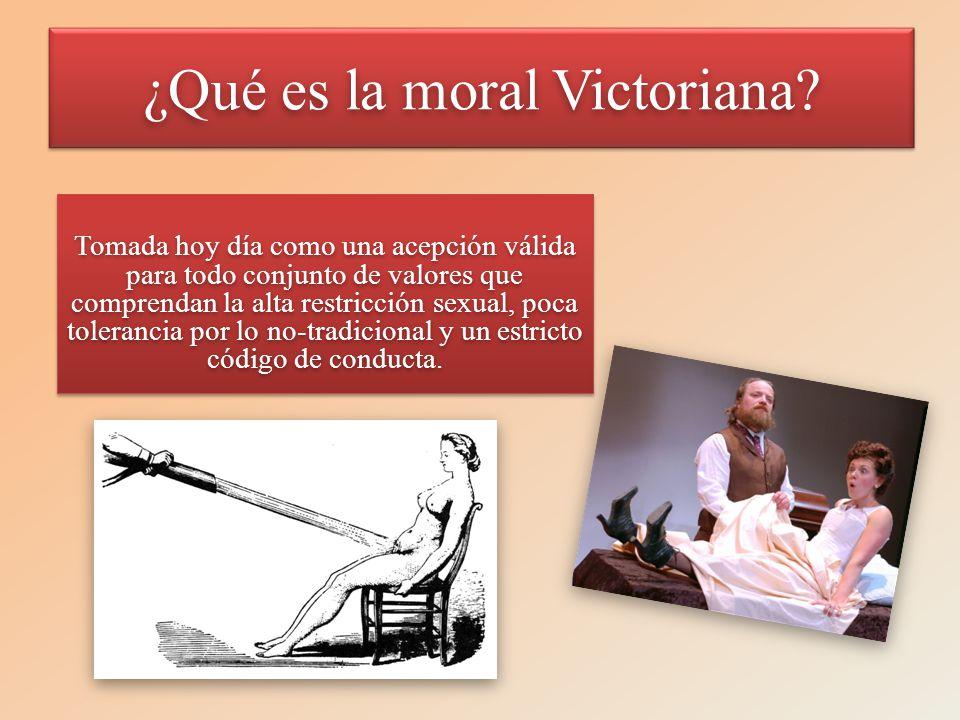 ¿Qué es la moral Victoriana