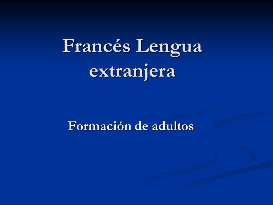 Francés Lengua extranjera