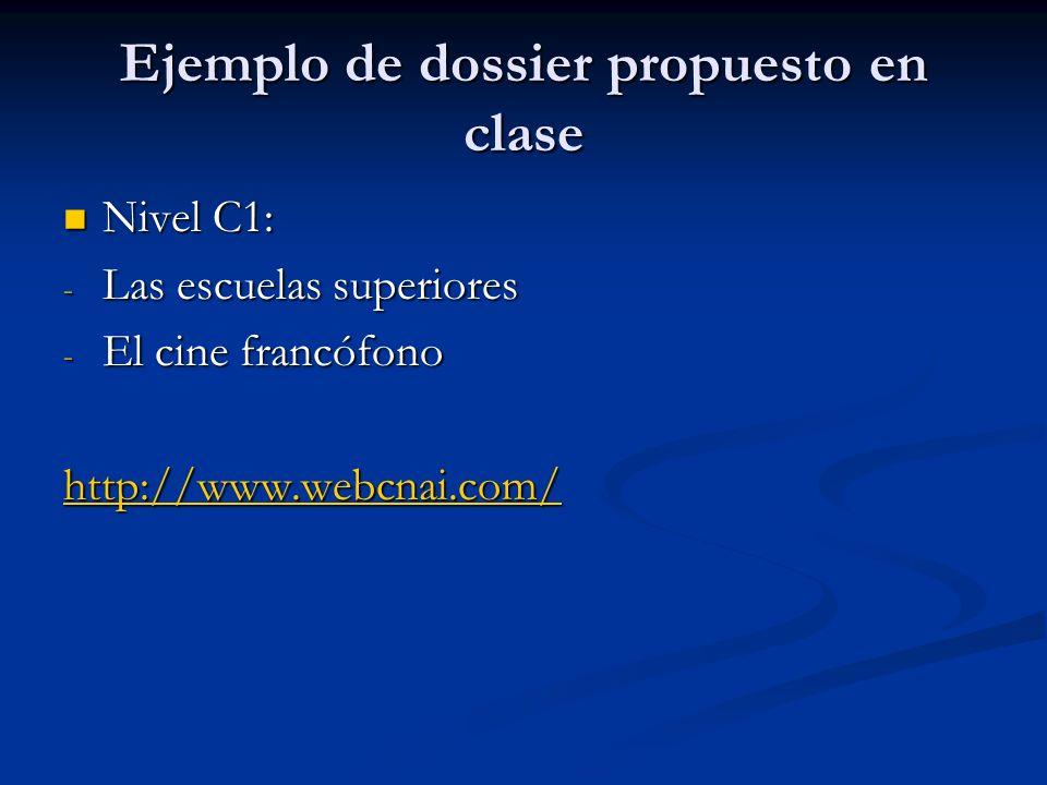Ejemplo de dossier propuesto en clase