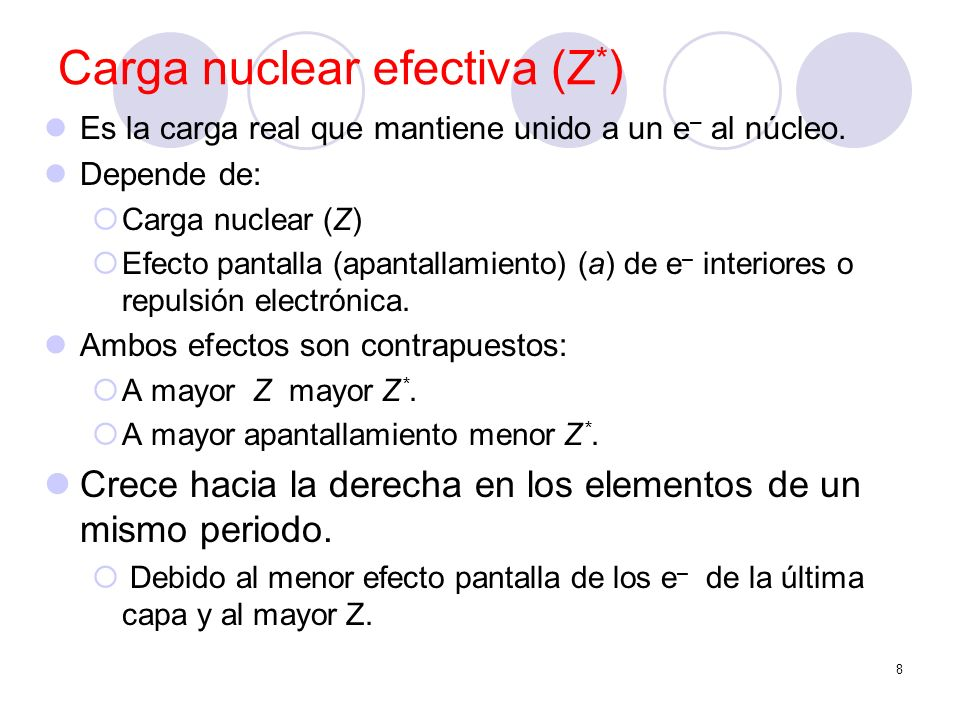 Carga nuclear efectiva (Z*)