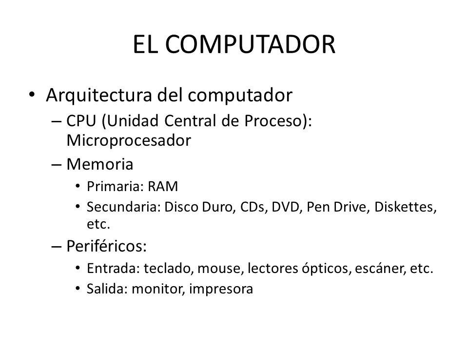 EL COMPUTADOR Arquitectura del computador