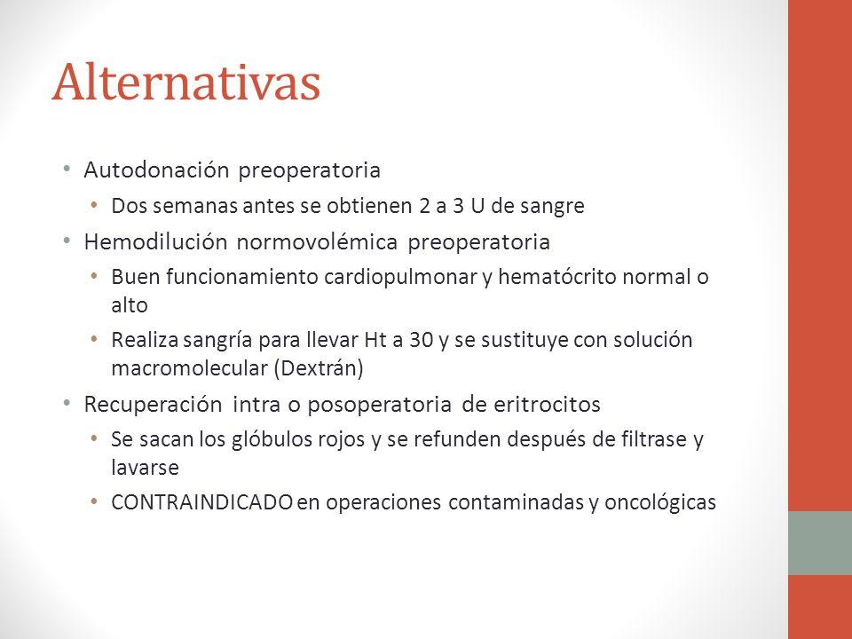 Alternativas Autodonación preoperatoria