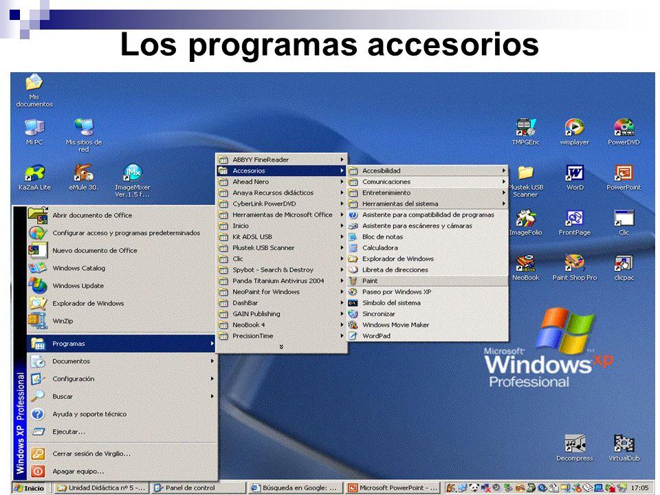 Los programas accesorios