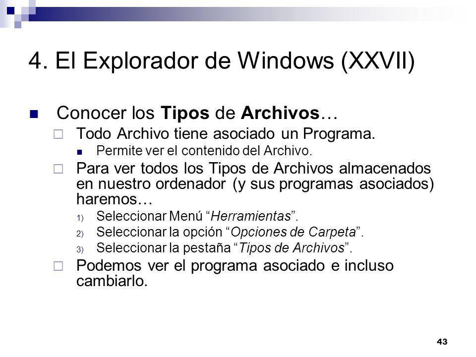 4. El Explorador de Windows (XXVII)