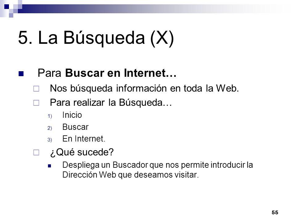 5. La Búsqueda (X) Para Buscar en Internet…
