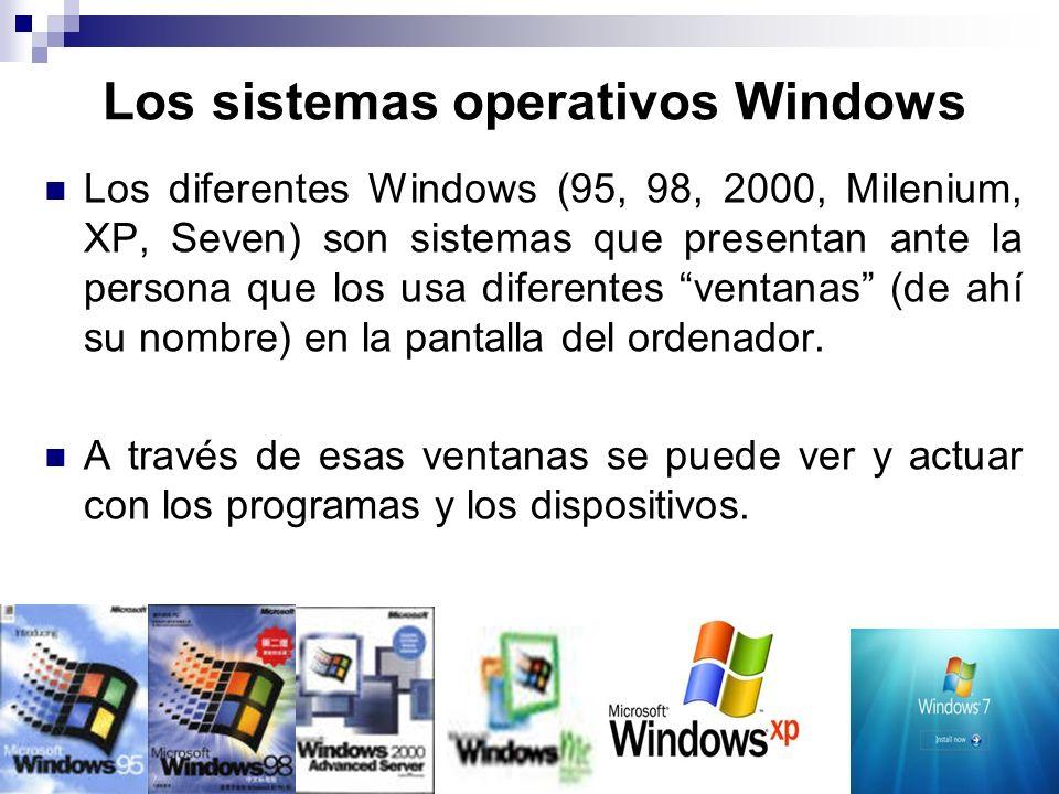 Los sistemas operativos Windows
