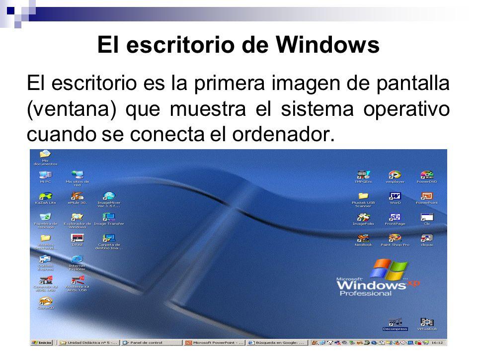 El escritorio de Windows