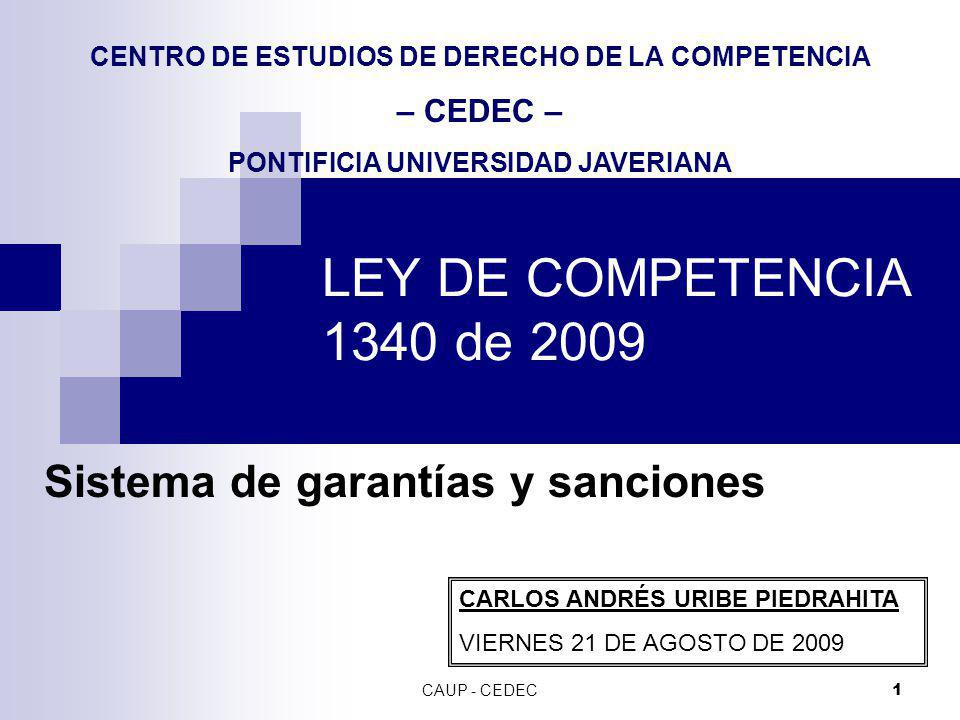 Sistema de garantías y sanciones