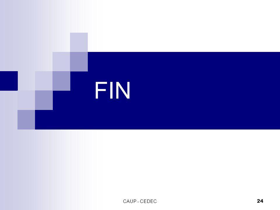 FIN CAUP - CEDEC