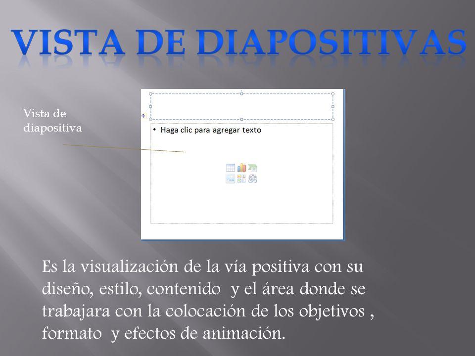 VISTA DE DIAPOSITIVAS Vista de diapositiva.