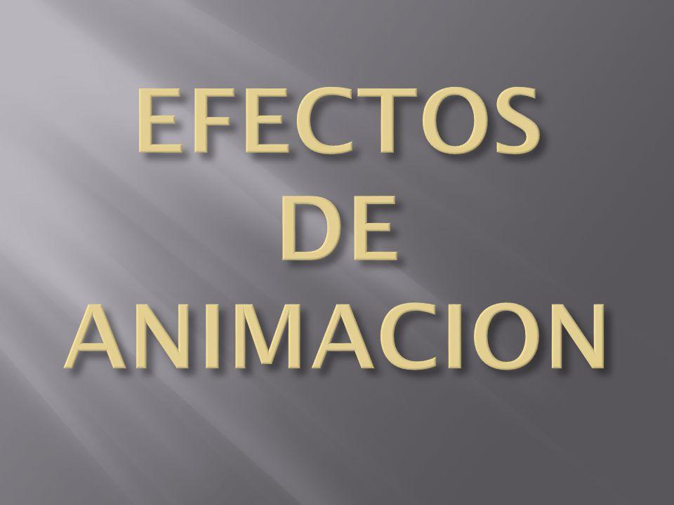 EFECTOS DE ANIMACION