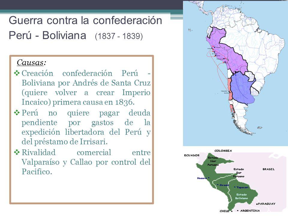 Guerra contra la confederación Perú - Boliviana (1837 - 1839)