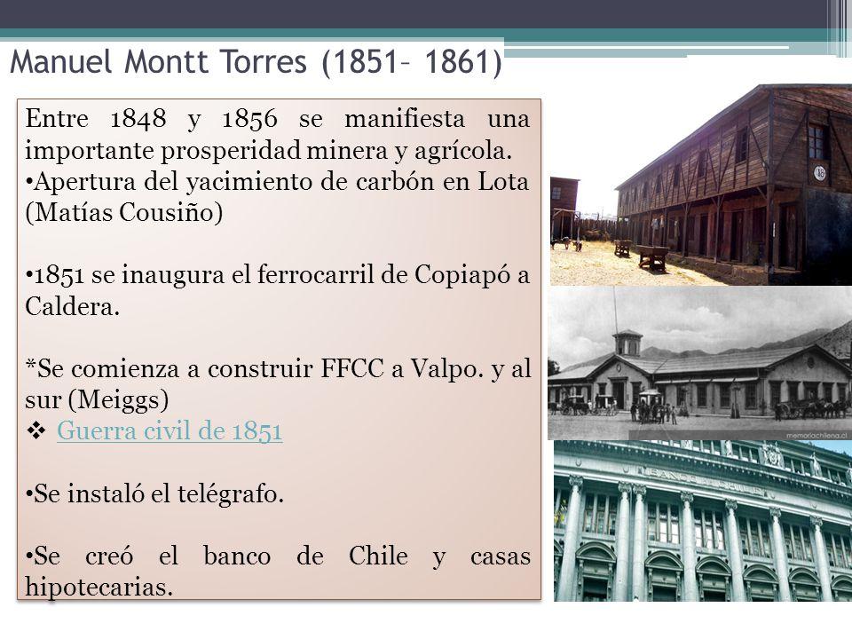 Manuel Montt Torres (1851– 1861)