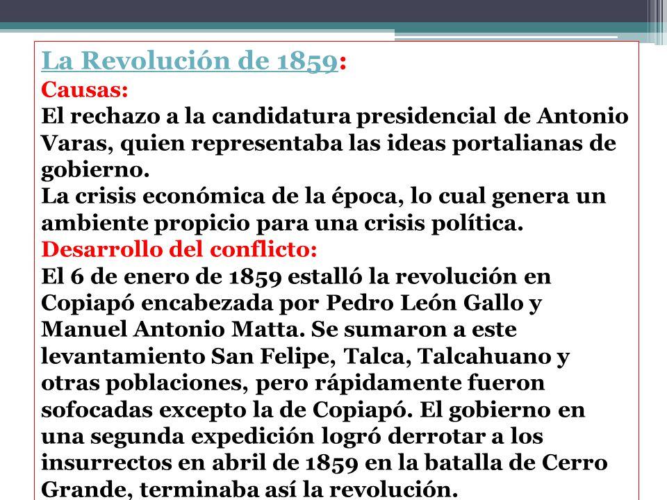 La Revolución de 1859: Causas:
