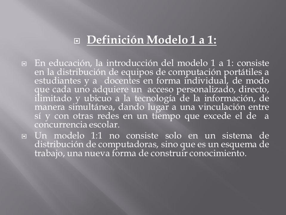 Definición Modelo 1 a 1: