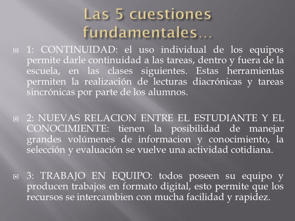 Las 5 cuestiones fundamentales…