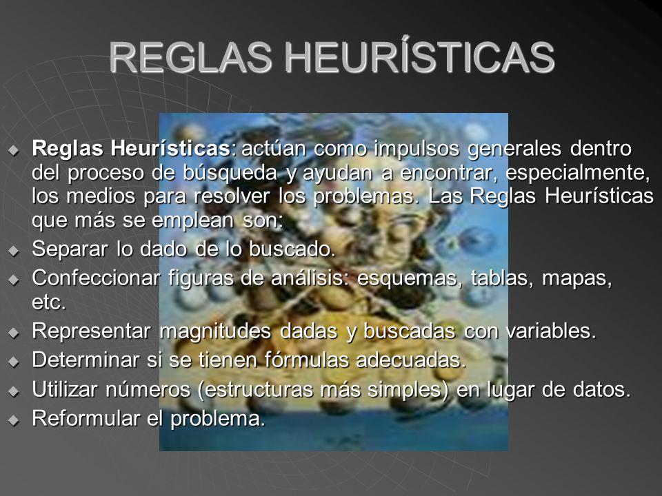 REGLAS HEURÍSTICAS