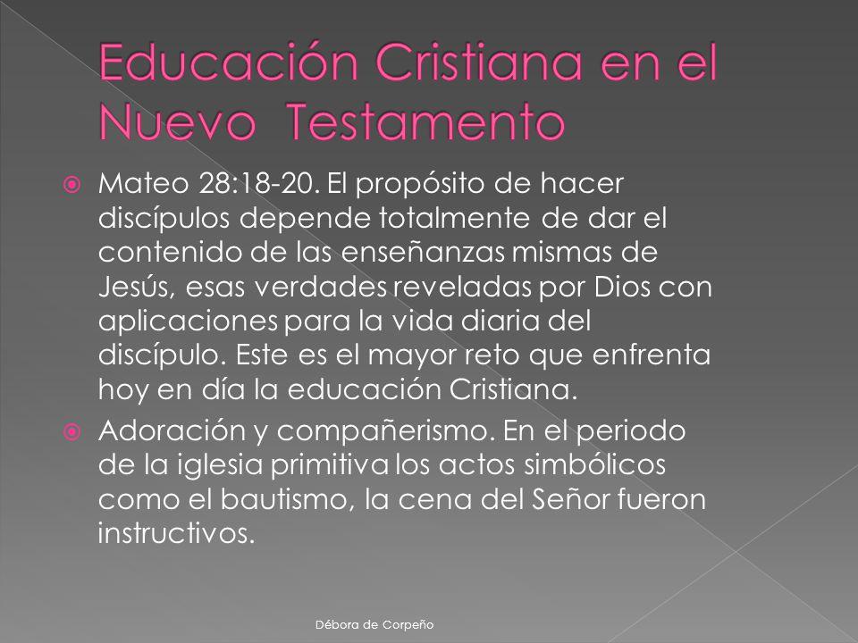 Educación Cristiana en el Nuevo Testamento