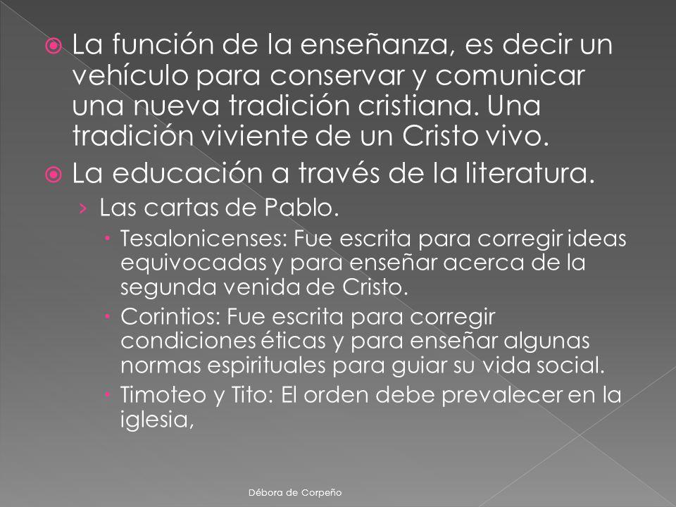 La educación a través de la literatura.