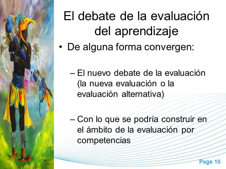 El debate de la evaluación del aprendizaje
