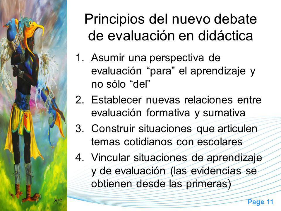 Principios del nuevo debate de evaluación en didáctica