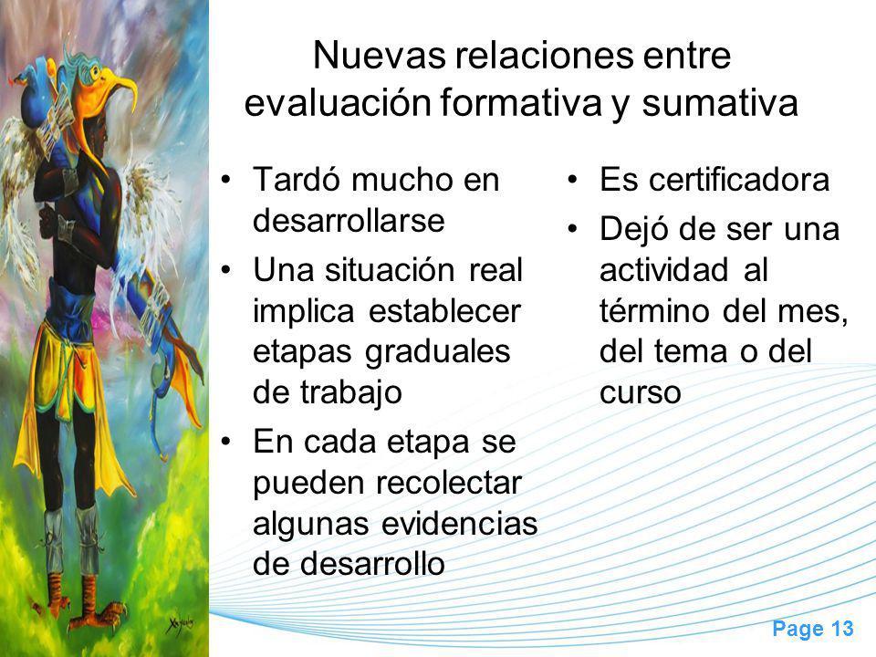 Nuevas relaciones entre evaluación formativa y sumativa