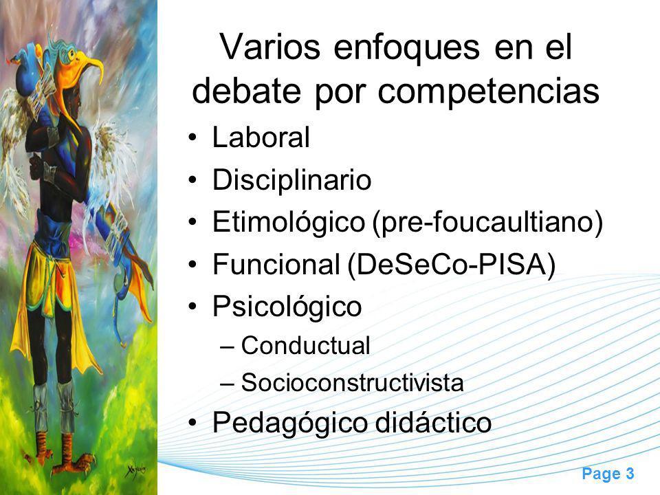 Varios enfoques en el debate por competencias