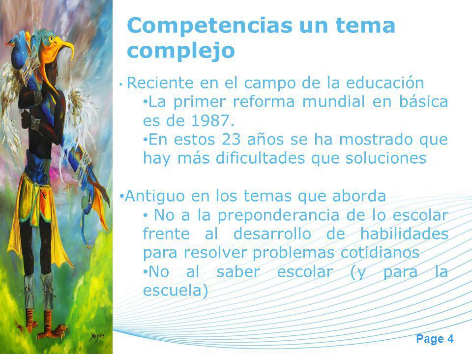 Competencias un tema complejo