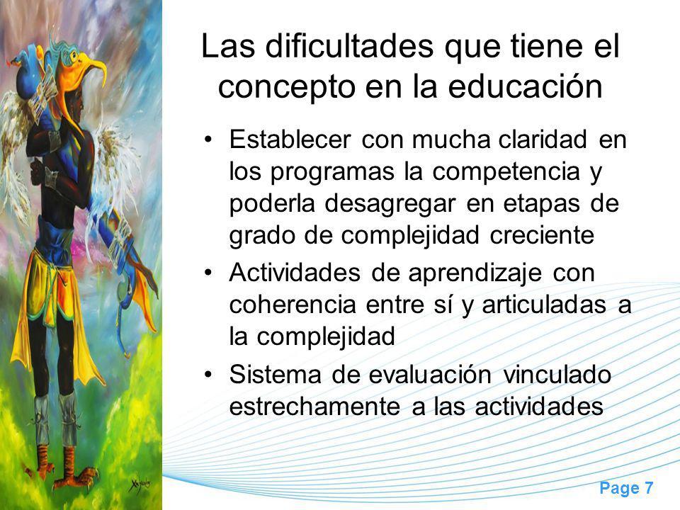 Las dificultades que tiene el concepto en la educación