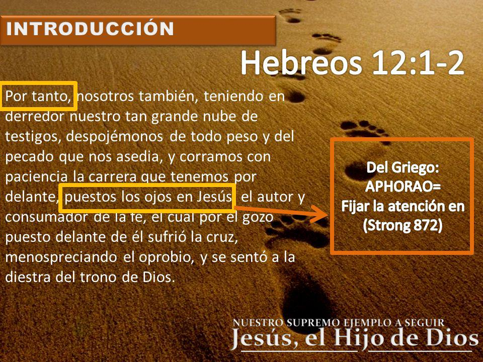 Hebreos 12:1-2 INTRODUCCIÓN