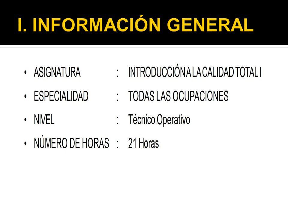 I. INFORMACIÓN GENERAL