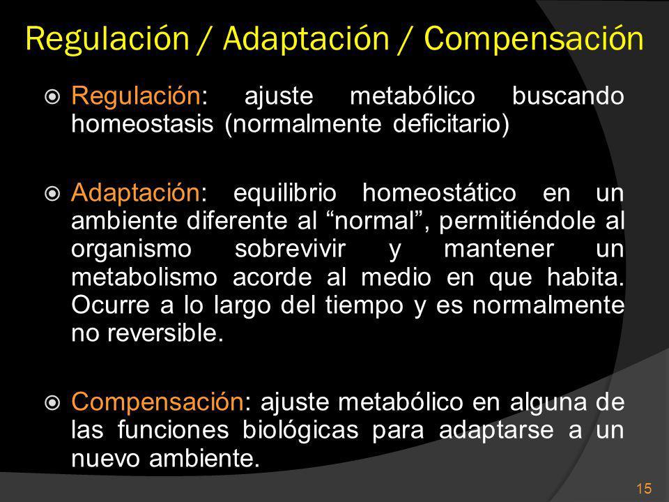 Regulación / Adaptación / Compensación