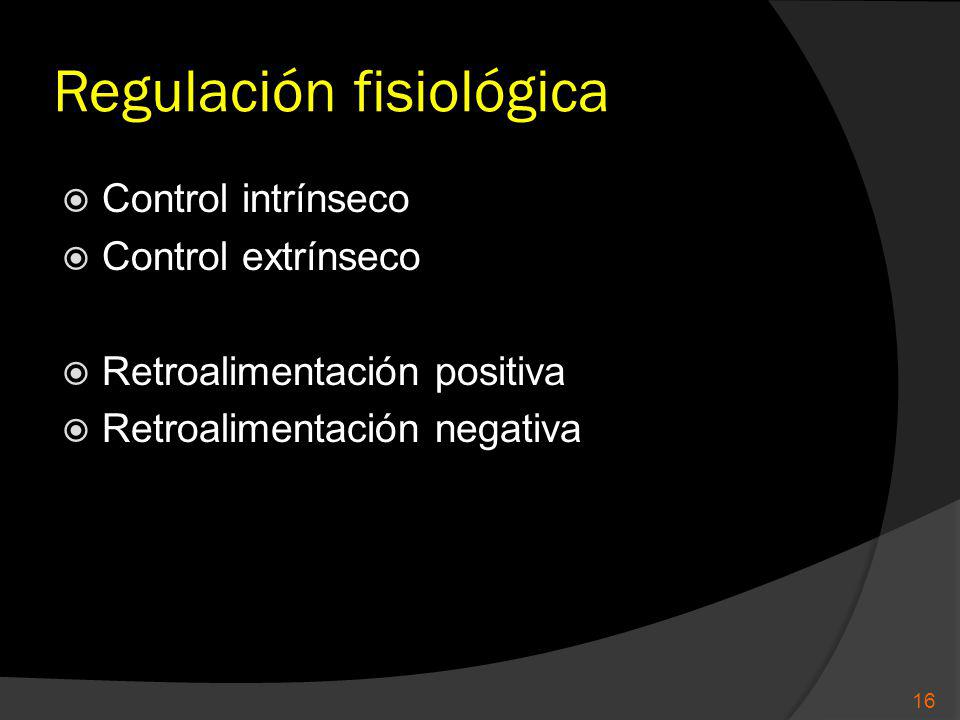 Regulación fisiológica