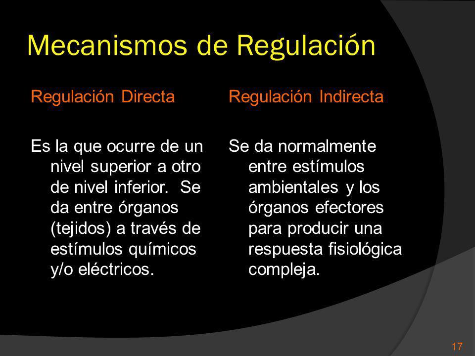 Mecanismos de Regulación