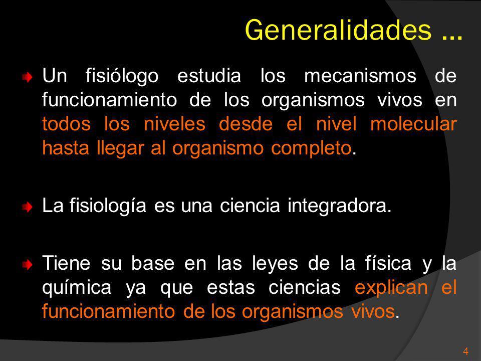 Generalidades …