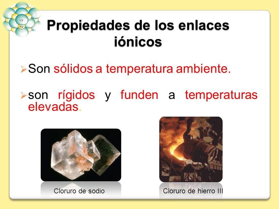 Propiedades de los enlaces iónicos