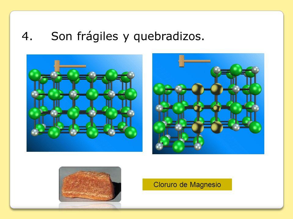 4. Son frágiles y quebradizos.