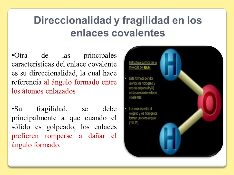 Direccionalidad y fragilidad en los enlaces covalentes