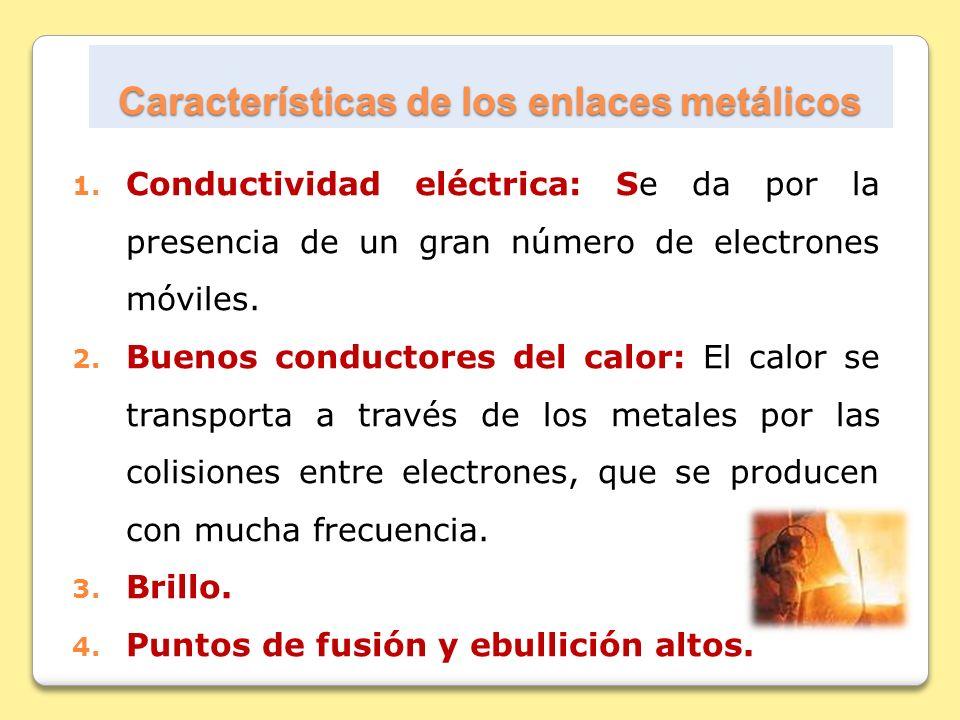 Características de los enlaces metálicos