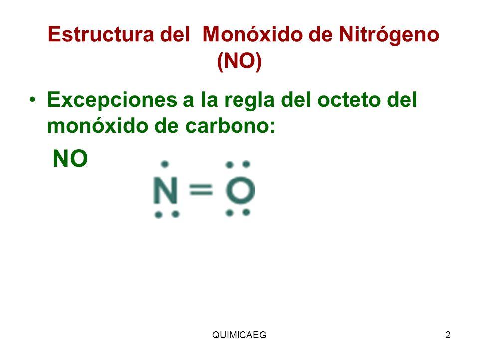Estructura del Monóxido de Nitrógeno (NO)